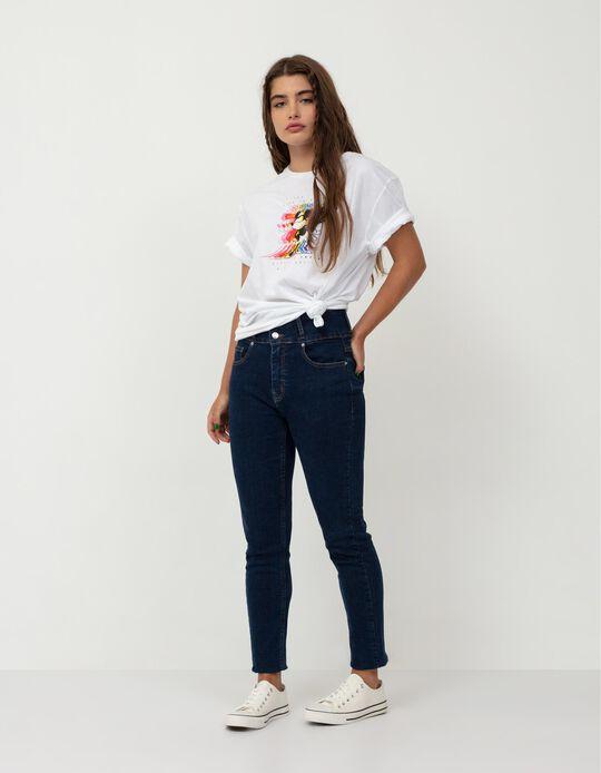 High Waist Jeans, Women, Dark Blue