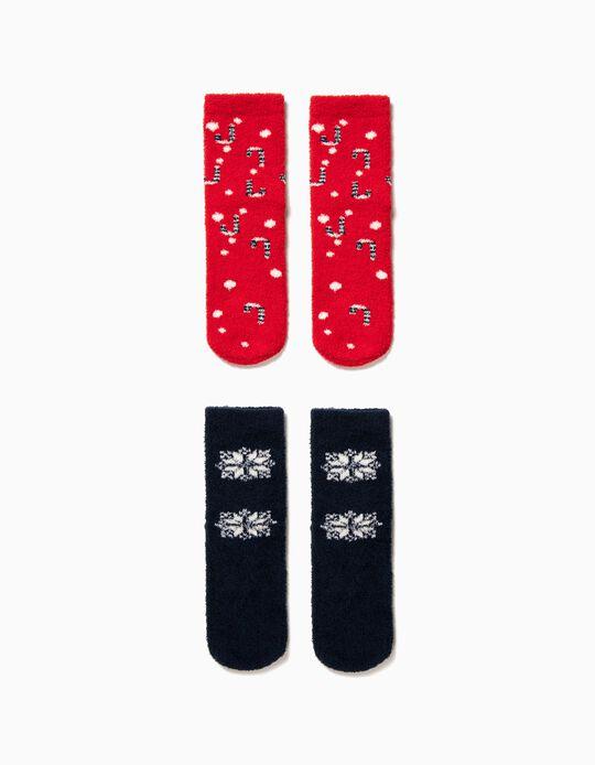 Pack 2 Meias Antiderrapantes Christmas Snowflakes