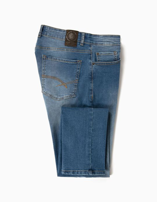 Washed Slim Leg Jeans