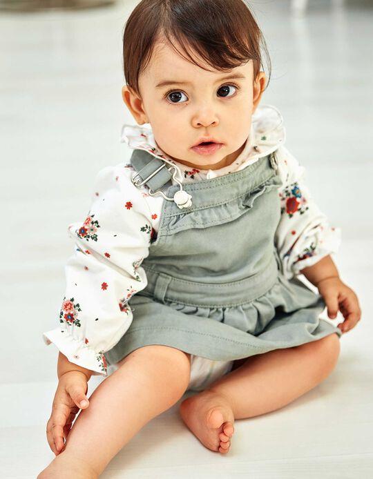 Saia de Peito para Bebé Menina, Verde