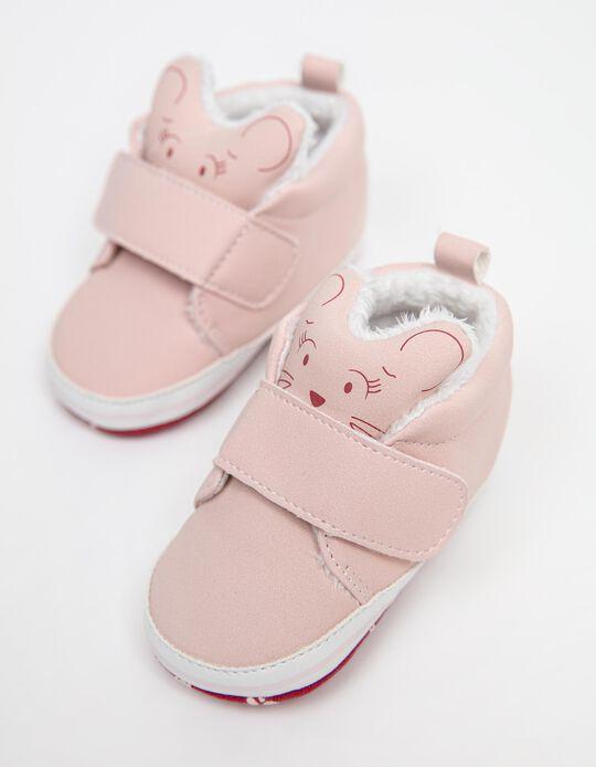 Animal' Shoes, Newborn Girls, Pink