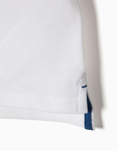 Polo Manga Curta Super Branco
