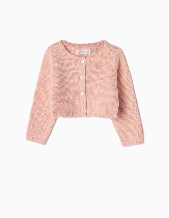 Bolero Jacket for Newborn Girls, Pink