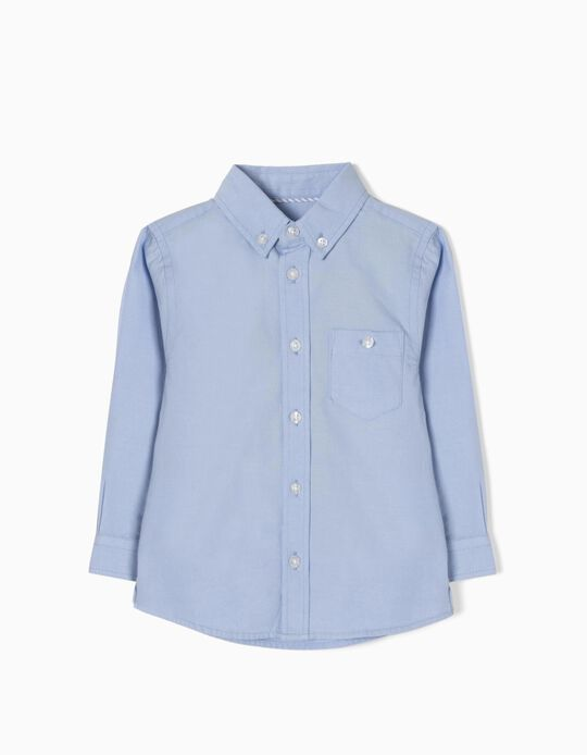 Long-Sleeve Shirt for Baby Boys, Blue