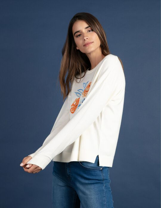 Embroidered Jersey Knit Top
