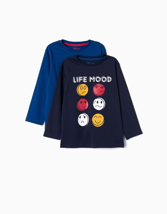 T-shirt Life Mood, pack de 2