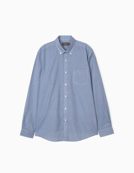 Shirt with Geometric Pattern, for Men