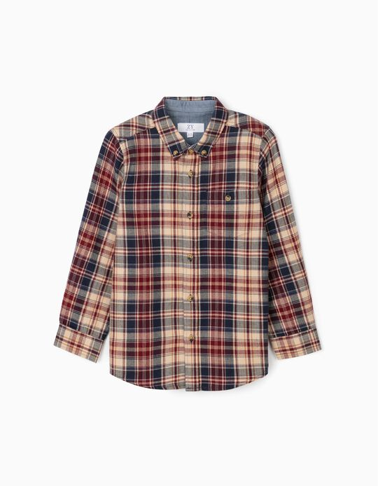 Plaid Shirt for Boys, Multicoloured