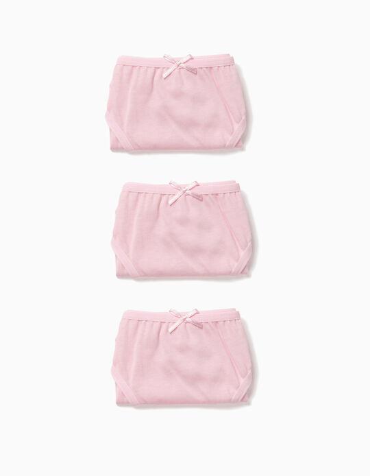 Pack 3 Cuecas Rosa com Lacinho
