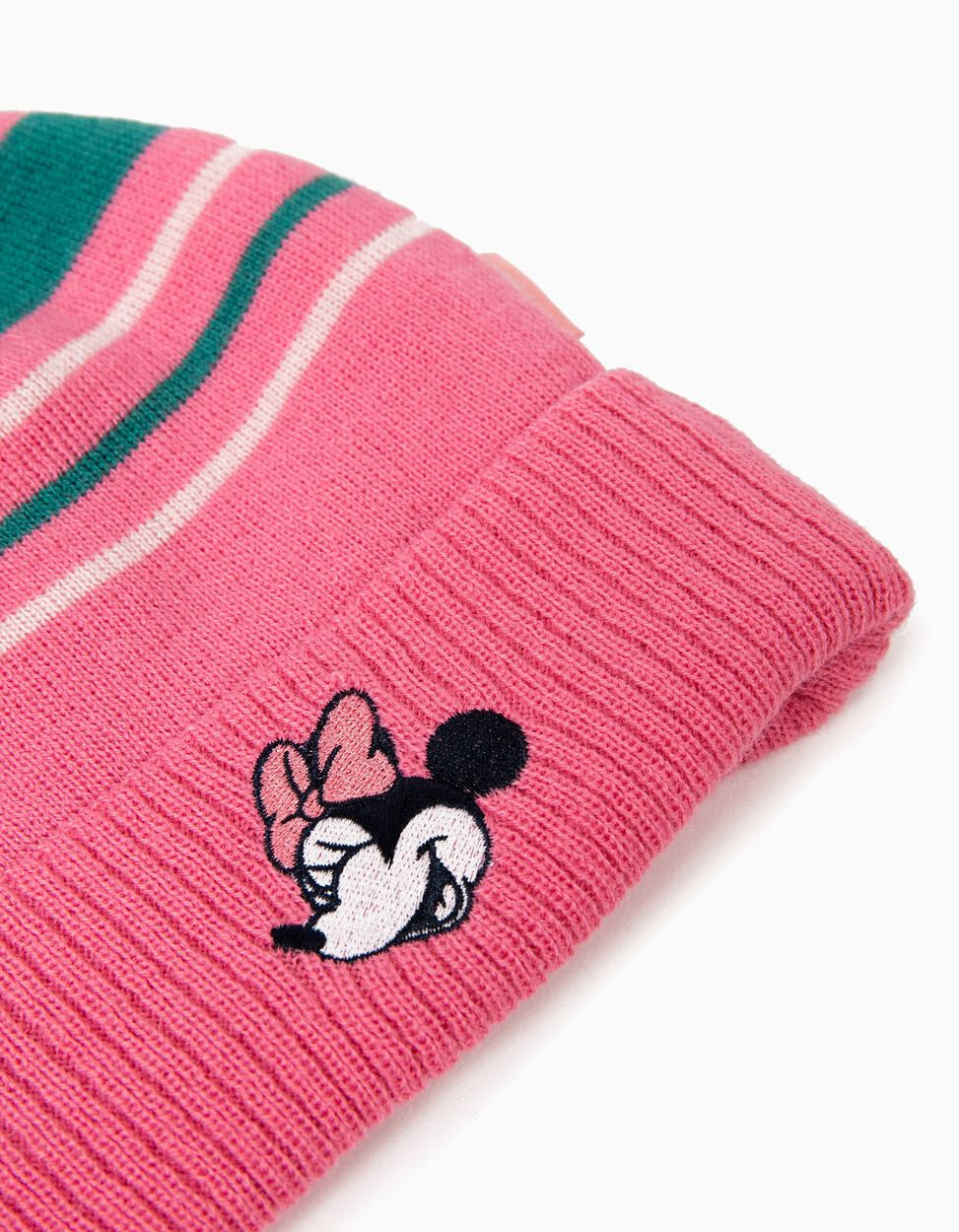 Gorro com Pompom Minnie Mouse