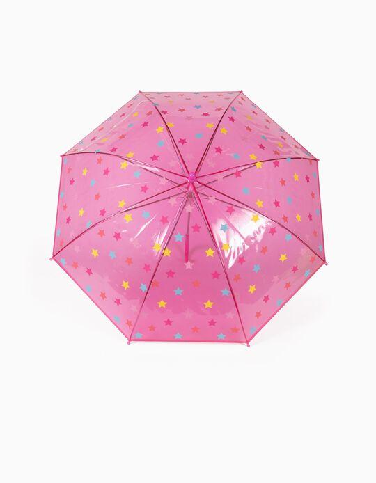 Umbrella for Girls, 'Stars', Pink