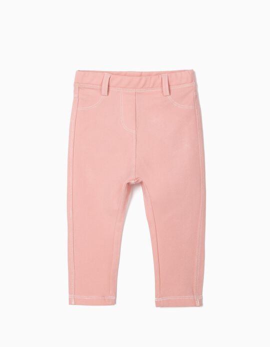 Pink Denim Jeggings for Baby Girls