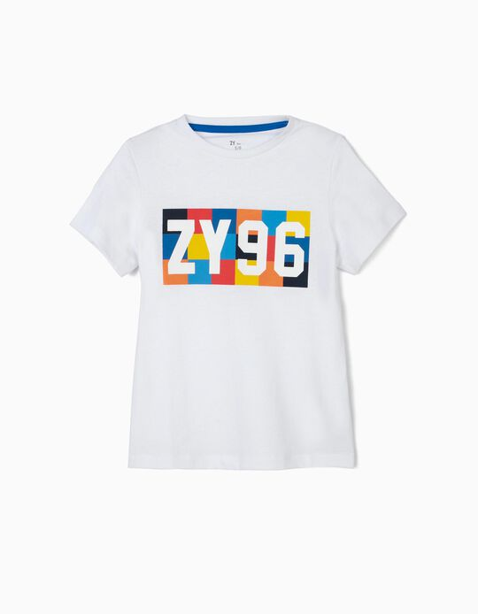 ZY 96' T-Shirt for Boys, White