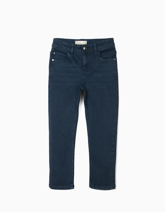 Twill Trousers for Boys, Dark Blue