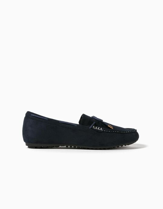 Synthetic Leather Moccasins, for Women