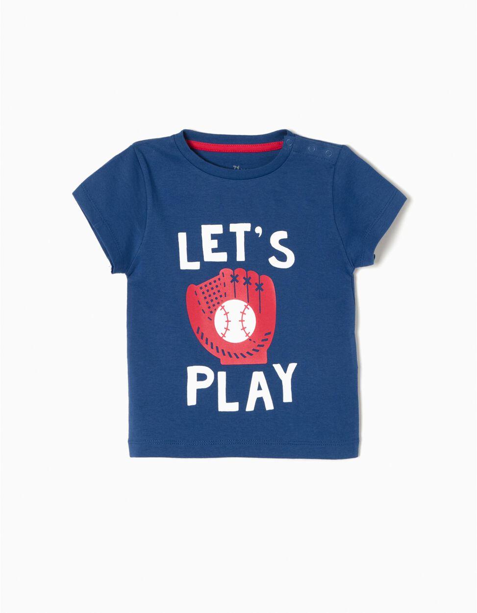 T-shirt Basebol Azul