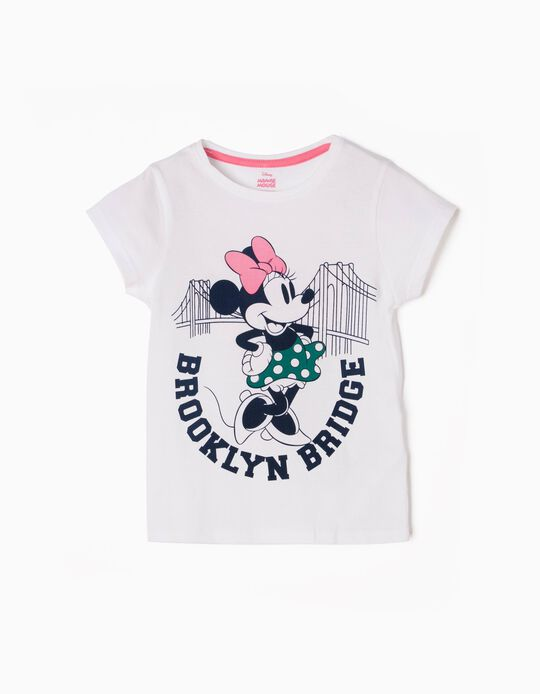 White T-Shirt, Minnie Brooklyn Bridge