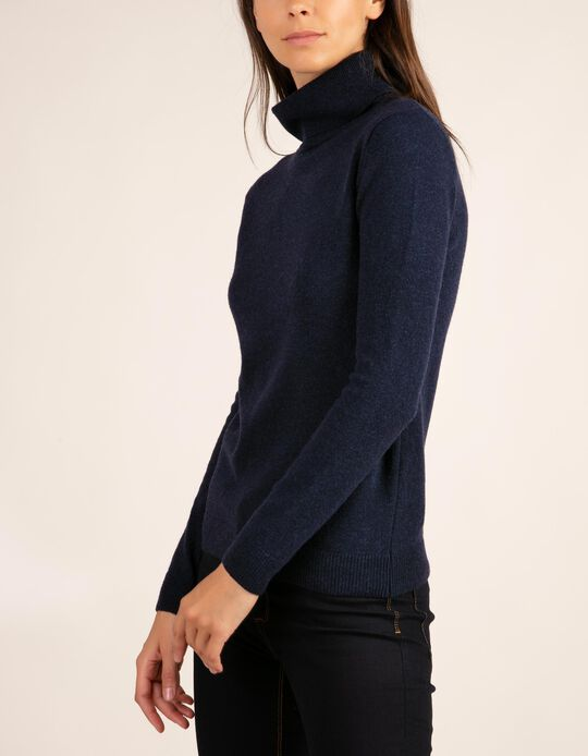 Camisola em Baby Wool com gola alta da gama Essentials