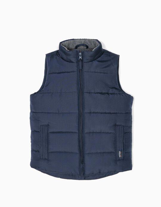 Dark Blue Padded Waistcoat