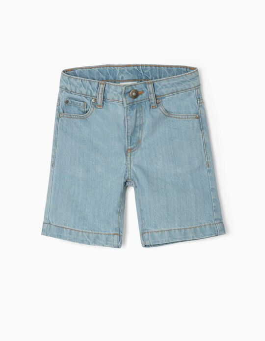Denim Shorts for Boys, Light Blue