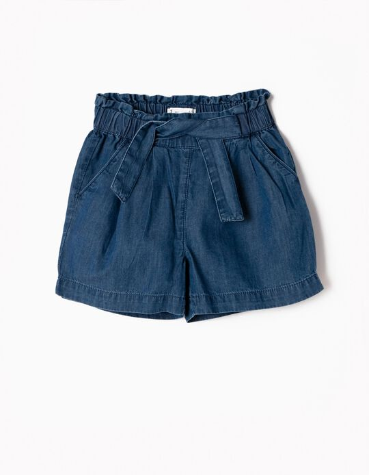 Denim Shorts with Bow