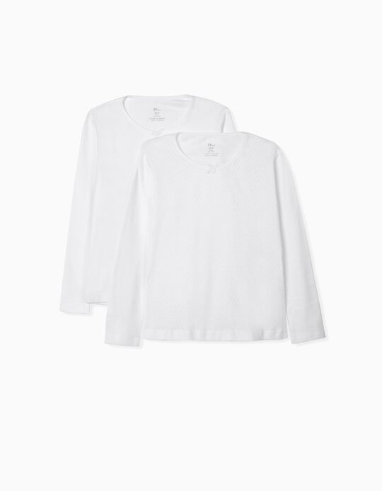 2 Camisolas Interiores para Menina, Branco