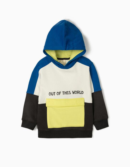 Hooded Sweatshirt for Boys 'Out of This World', Multicoloured
