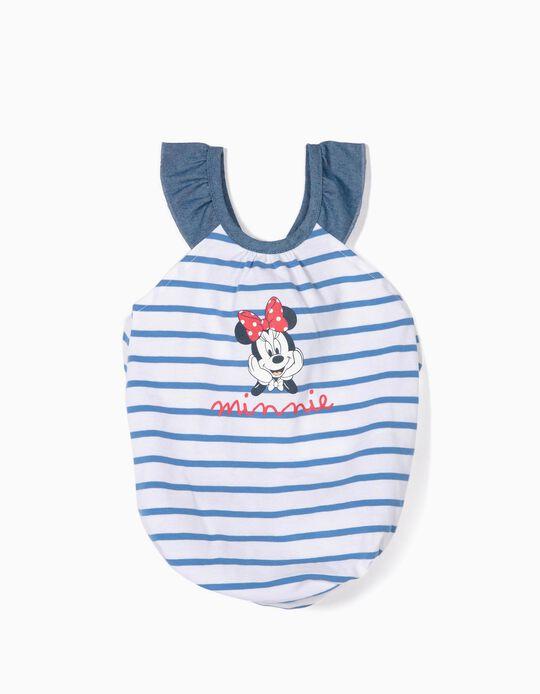 Macacão para Recém-Nascida 'Minnie', Azul e Branco