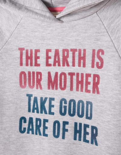 Vestido de Felpa com Capuz Mother Earth