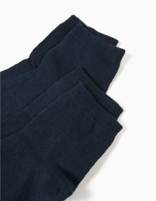 Pack of 2 Pairs of Socks, Blue
