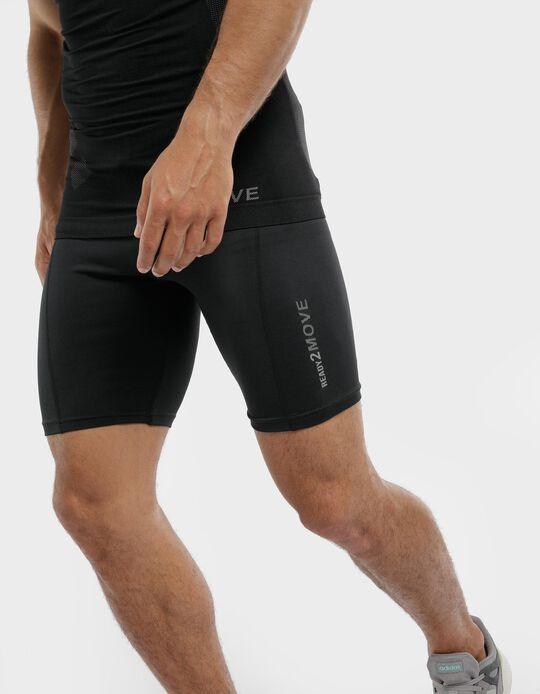 Jersey knit sports shorts with ergonomic cut