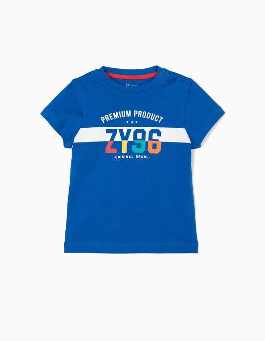 T-shirt para Bebé Menino 'ZY 96', Azul