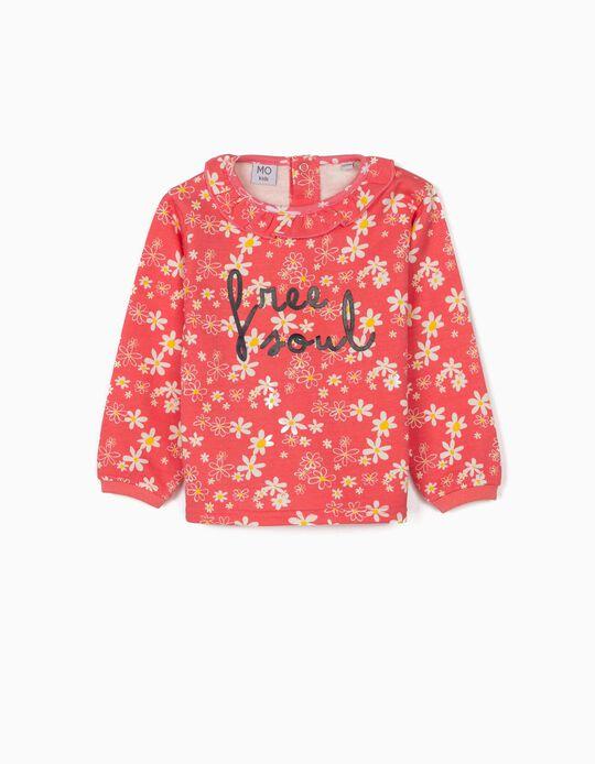 Sweatshirt cardada Flores