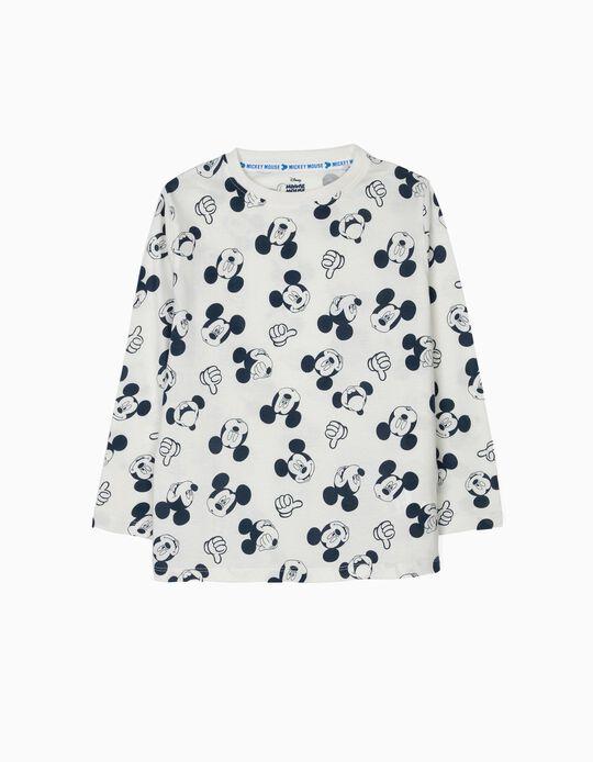2 T-shirts Manga Comprida 'Mickey', Branco e Cinza