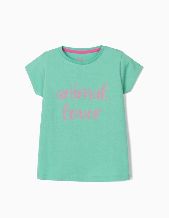 T-shirt para Menina, 'Animal Lover'