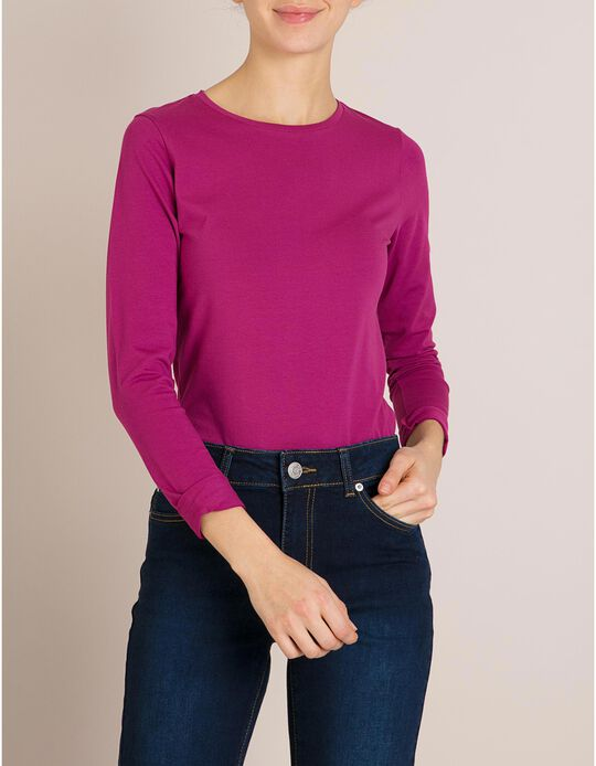 T-Shirt Mangas Compridas Violeta