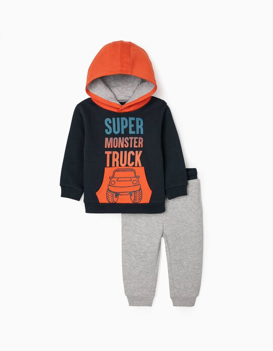 Tracksuit for Baby Boys 'Truck', Blue/Orange/Grey