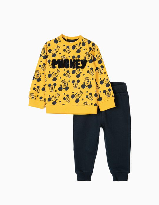 Tracksuit for Baby Boys 'Mickey', Yellow/Dark Blue