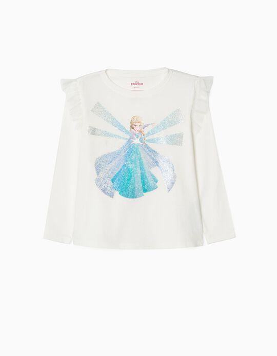 Long Sleeve T-Shirt for Girls 'Elsa', White