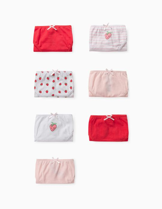 7 Pairs of Assorted Briefs for Girls