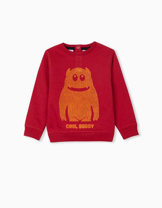 Cool Buddy' Sweatshirt for Baby Boys, Red