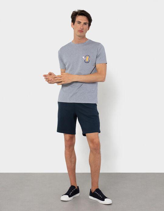 Textured T-shirt, Men
