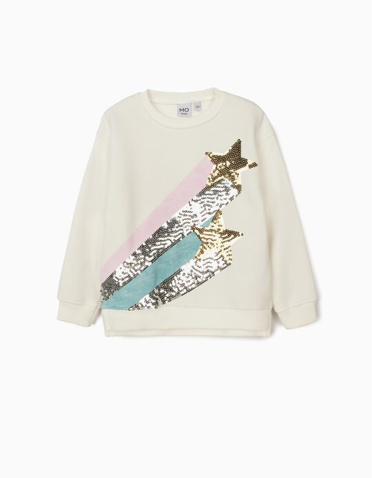 Carded Sweatshirt with Sequins