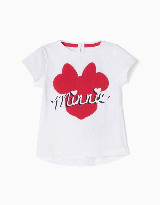 T-shirt Branca Minnie