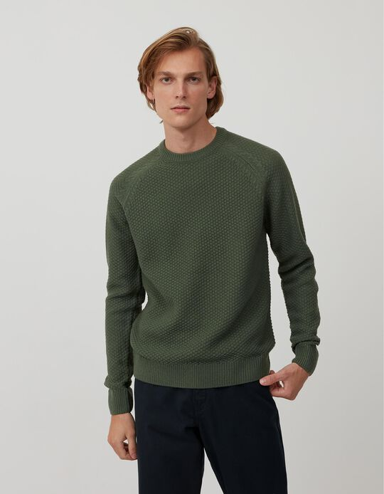 Camisola de Malha, Homem, Verde