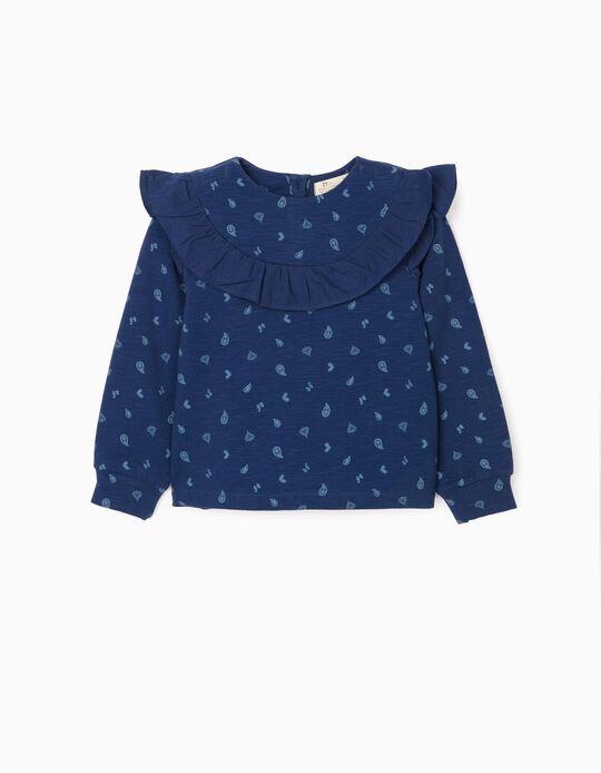 Sweatshirt for Girls 'Paisley', Dark Blue