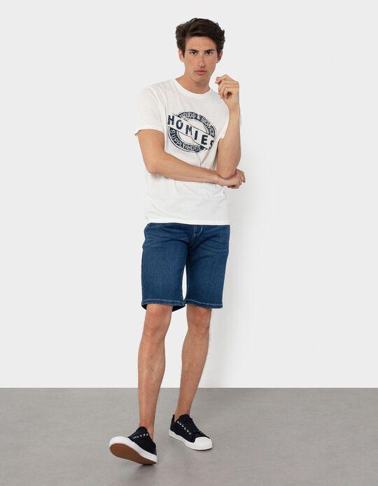 Denim Shorts, Elasticated Waistband