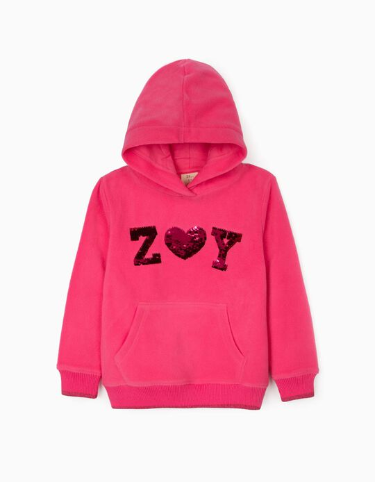 Sweatshirt in Polar Fleece 'ZY', Pink