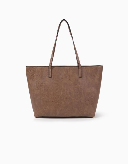 Synthetic leather shopper bag