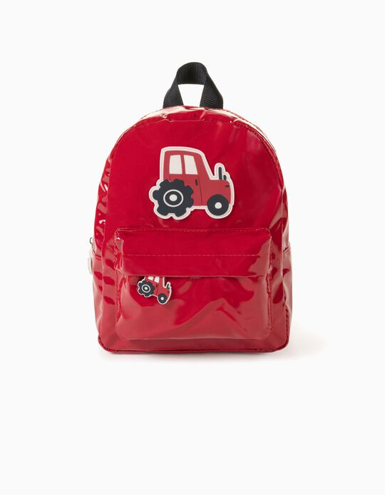 Waterproof Backpack for Boys 'Tractor', Red